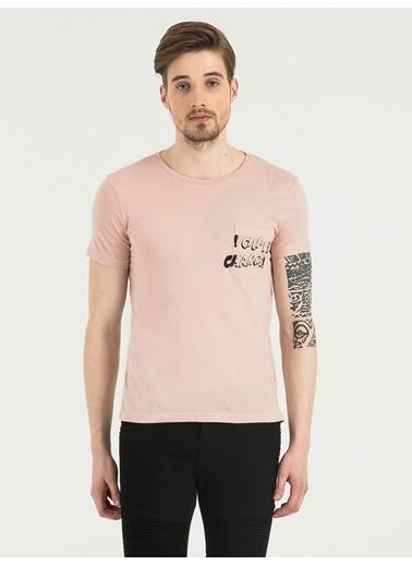 Loft Baskılı T-Shirt Pembe